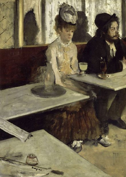 Degas, Edgar: In a Café. Fine Art Print/Poster. Sizes: A4/A3/A2/A1 (003749)